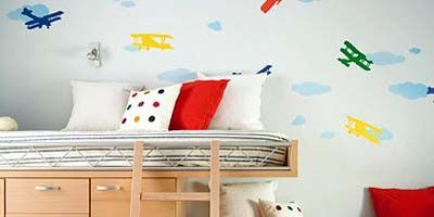 Blue, Product, Wood, Room, Interior design, Wall, Property, Bedding, Furniture, Textile,
