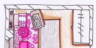 Magenta, Pink, Line, Purple, Pattern, Violet, Artwork, Rectangle, Parallel, Illustration,