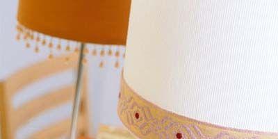 Lampshade, Lighting accessory, Orange, Home accessories, Lamp, Peach, Linens, Light fixture, Costume accessory, Creative arts,