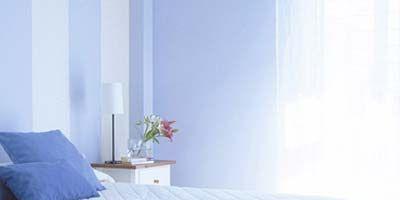 Bed, Blue, Room, Interior design, Bedding, Property, Furniture, Wall, Bedroom, Bed sheet,