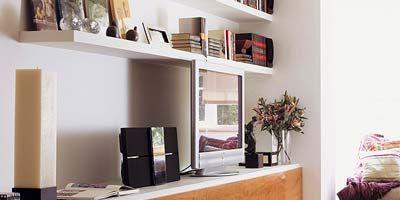 Wood, Room, Interior design, Furniture, Wall, Flooring, Home, Interior design, Shelving, House,