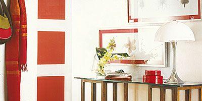 Room, Interior design, Lampshade, Interior design, Lamp, Lighting accessory, Door, Paint, Houseplant, Coquelicot,