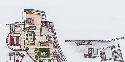 Magenta, Slope, Illustration, Artwork, Drawing, Plan,