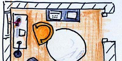 Line, Orange, Artwork, Rectangle, Illustration, Circle, Drawing, Still life, Square, Graphics,