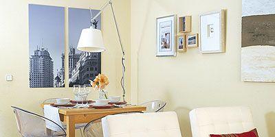 Room, Interior design, Furniture, Wall, Table, Interior design, Floor, Picture frame, Light fixture, Home,
