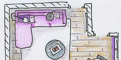 Purple, Line, Parallel, Violet, Rectangle, Illustration, Design, Circle, Machine, Drawing,