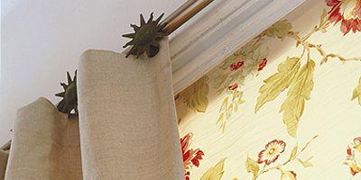 Yellow, Textile, Interior design, Linens, Beige, Towel, Creative arts, Window treatment, Wallpaper, Molding,