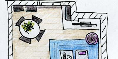 Line, Purple, Parallel, Rectangle, Lavender, Violet, Office equipment, Illustration, Design, Machine,