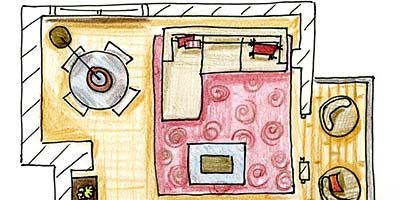 Line, Parallel, Rectangle, Peach, Illustration, Circle, Artwork, Drawing, Plan,