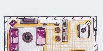 Purple, Pink, Line, Magenta, Violet, Paint, Parallel, Artwork, Material property, Rectangle,