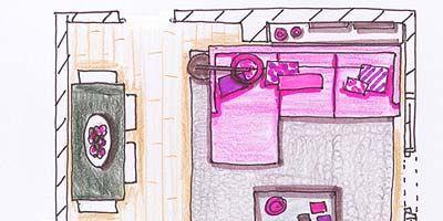Purple, Magenta, Pink, Line, Violet, Parallel, Lavender, Illustration, Artwork, Rectangle,