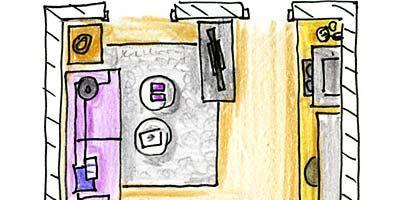 Line, Purple, Parallel, Artwork, Illustration, Cartoon, Drawing, Rectangle, Painting, Sketch,