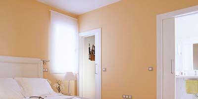 Room, Wood, Floor, Bed, Product, Yellow, Interior design, Flooring, Property, Wall,