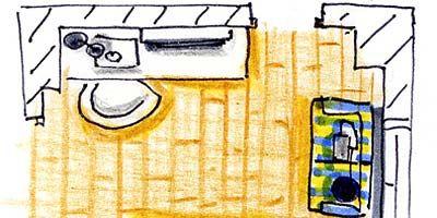Yellow, Line, Art, Parallel, Artwork, Rectangle, Paint, Illustration, Painting, Circle,