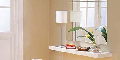 Room, Interior design, Wall, Flowerpot, Interior design, Fixture, Orange, Houseplant, Paper bag, Door,