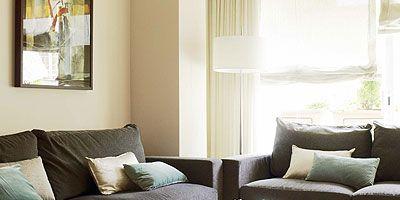 Cortinas Para Salon Con Muebles Oscuros.Decorar El Salon