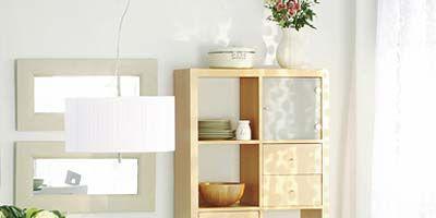 Room, Interior design, White, Wall, Dishware, Tablecloth, Shelving, Home, Interior design, Serveware,
