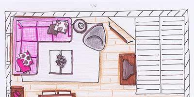 Pink, Line, Purple, Magenta, House, Violet, Artwork, Lavender, Rectangle, Illustration,