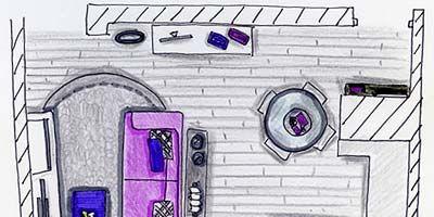 Purple, Magenta, Line, Violet, Parallel, Lavender, Rectangle, Illustration, Drawing, Artwork,