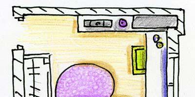 Purple, Line, Violet, Lavender, Parallel, Rectangle, Office equipment, Illustration, Drawing, Output device,