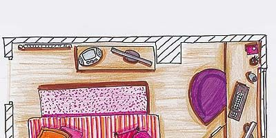 Pink, Magenta, Art, Rectangle, Violet, Illustration, Creative arts, Drawing, Painting, Child art,