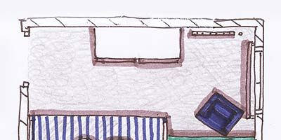Product, Line, Purple, Parallel, Rectangle, Cartoon, Illustration, Drawing, Bed frame, Linens,