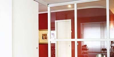 Room, Property, Floor, Interior design, Flooring, Wall, Glass, Fixture, Home door, Door,