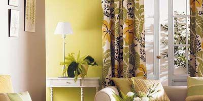 Yellow, Room, Interior design, Interior design, Living room, Home, Pillow, Throw pillow, Lamp, Lampshade,