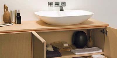 Product, Room, Wood, Bathroom sink, Plumbing fixture, Property, Wall, Shelf, Shelving, Tap,