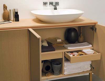 Madera para el mueble del lavabo for Mueble debajo del lavabo