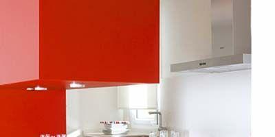 Room, Property, White, Kitchen, Line, Wall, Interior design, Grey, Major appliance, Maroon,