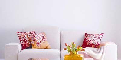 Brown, Room, Yellow, Interior design, Wall, Furniture, Textile, White, Pillow, Throw pillow,