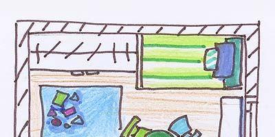 Line, Turquoise, Aqua, Artwork, Parallel, Illustration, Rectangle, Painting, Drawing, Still life,