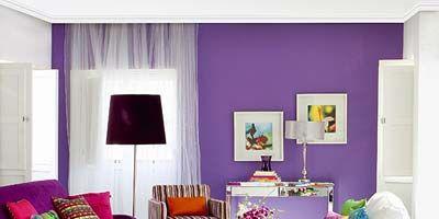 Room, Interior design, Green, Living room, Wall, Purple, Furniture, Floor, Couch, Orange,