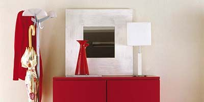 Room, Red, Clothes hanger, Interior design, Cabinetry, Rectangle, Coquelicot, Household hardware, Machine, Chest of drawers,