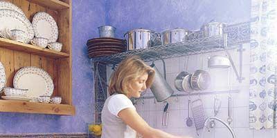 Room, Kitchen, Cabinetry, Home accessories, Major appliance, Countertop, Sink, Service, Plumbing fixture, Tap,