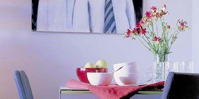 Room, Petal, Interior design, Furniture, Wall, Bouquet, Interior design, Linens, Home accessories, Grey,