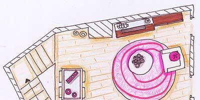 Pink, Magenta, Purple, Line, Violet, Artwork, Parallel, Lavender, Illustration, Rectangle,