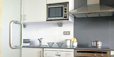 Room, Property, Major appliance, White, Kitchen, Home appliance, Glass, Kitchen appliance, Line, House,