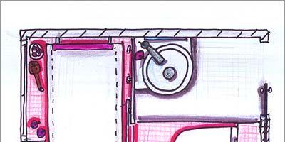 Pink, Magenta, Line, Purple, Rectangle, Parallel, Artwork, Illustration, Drawing, Sketch,