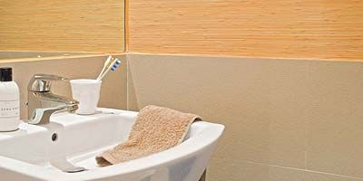 Product, Property, Wall, Plumbing fixture, Household supply, Plumbing, Tile, Composite material, Sink, Bathroom accessory,