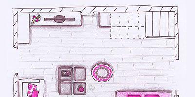Purple, Magenta, Pink, Line, Violet, Lavender, Parallel, Artwork, Rectangle, Illustration,