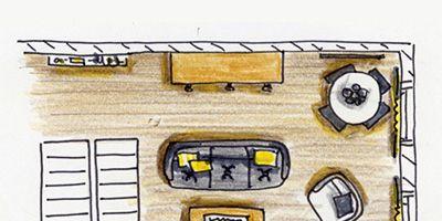 Yellow, Line, Parallel, Rectangle, Cartoon, Illustration, Drawing, Paint, Plan, Artwork,