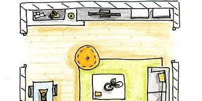 Yellow, Line, Parallel, Cartoon, Illustration, Rectangle, Machine, Drawing, Artwork, Painting,