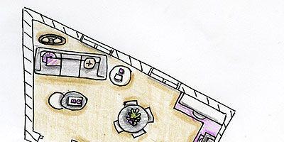 Line, Purple, Artwork, Parallel, Rectangle, Illustration, Drawing, Painting, Plan, Sketch,