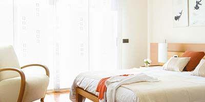 Bed, Floor, Room, Interior design, Property, Flooring, Bedding, Wall, Textile, Bedroom,