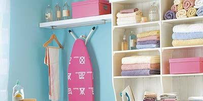 Room, Shelving, Shelf, Teal, Turquoise, Magenta, Collection, Peach, Household supply, Paint,
