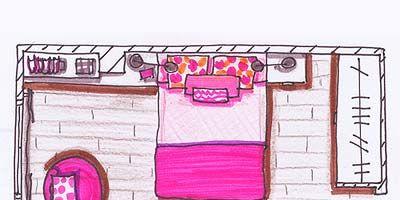 Magenta, Pink, Purple, Line, Violet, Rectangle, Illustration, Artwork, Drawing, Linens,