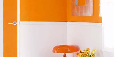 Room, Yellow, Orange, Interior design, Property, Wall, Furniture, Floor, Amber, Drawer,