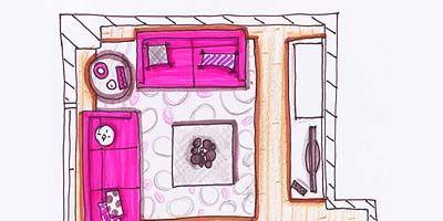 Purple, Magenta, Pink, Violet, Rectangle, Illustration, Artwork, Drawing, Square, Painting,
